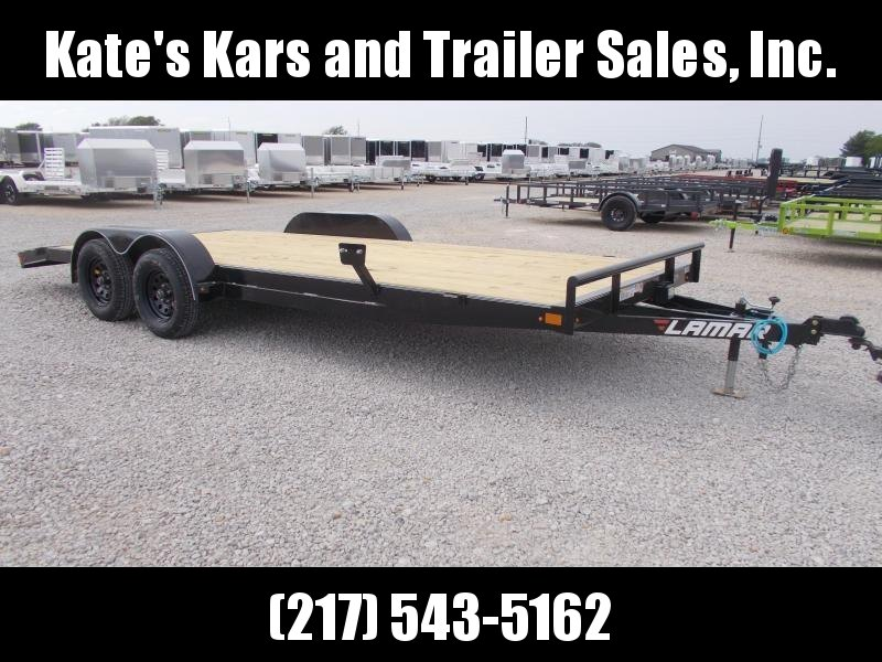 "*NEW!! Lamar  83""X20' Car Hauler W/ Removable Fenders Flatbed  Trailer"