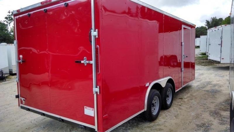 New South Georgia 8 5 X 16 Red Enclosed Cargo Trailer