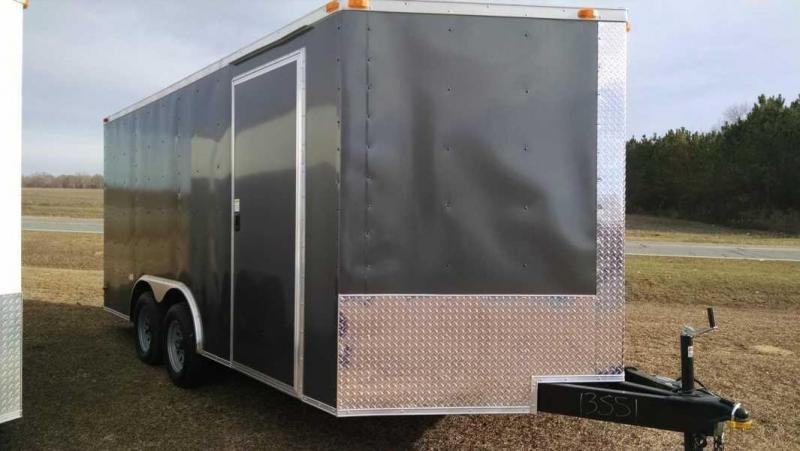 8.5 X 16 Economy Line Enclosed Trailer A/C Generator Compartment