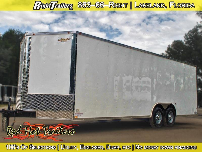 8.5x24 Red Hot Trailers | Enclosed Trailer/Car Hauler
