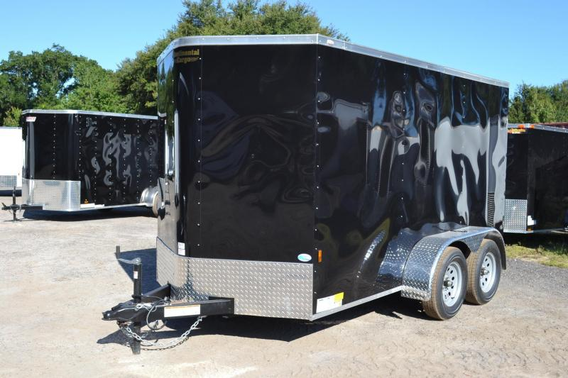 6x12 Continental Cargo | Enclosed Trailer with Tandem Axles