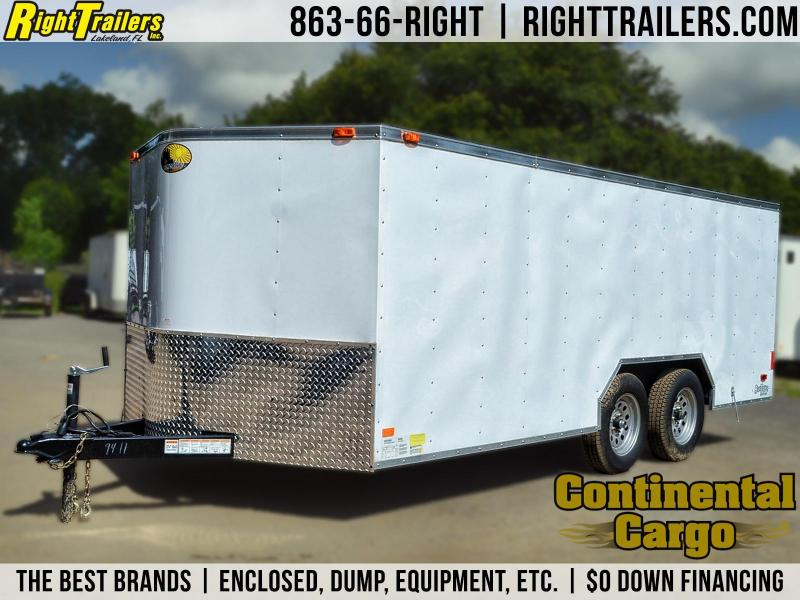 7x16 Continental Cargo   Enclosed Trailer [Low-Profile]