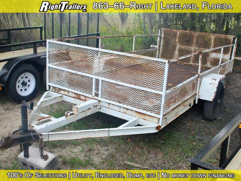 USED: 6x12 Homemade Utility Trailer