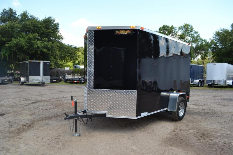 6x10 Red Hot Trailers   Enclosed Trailer [Black]