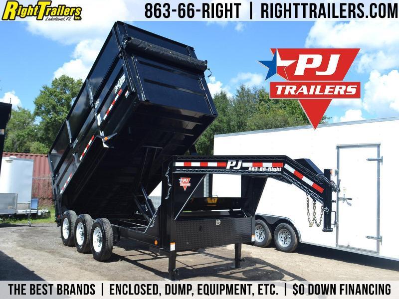 7x16 PJ Trailers   Dump Trailer [Triple Axles]