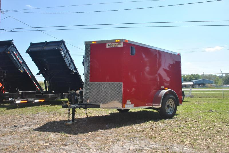 5x8 Red Hot Trailers   Enclosed Trailer [Red]