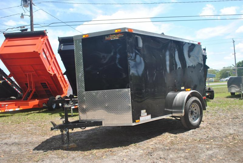 5x8 Red Hot Trailers   Enclosed Trailer [Black]