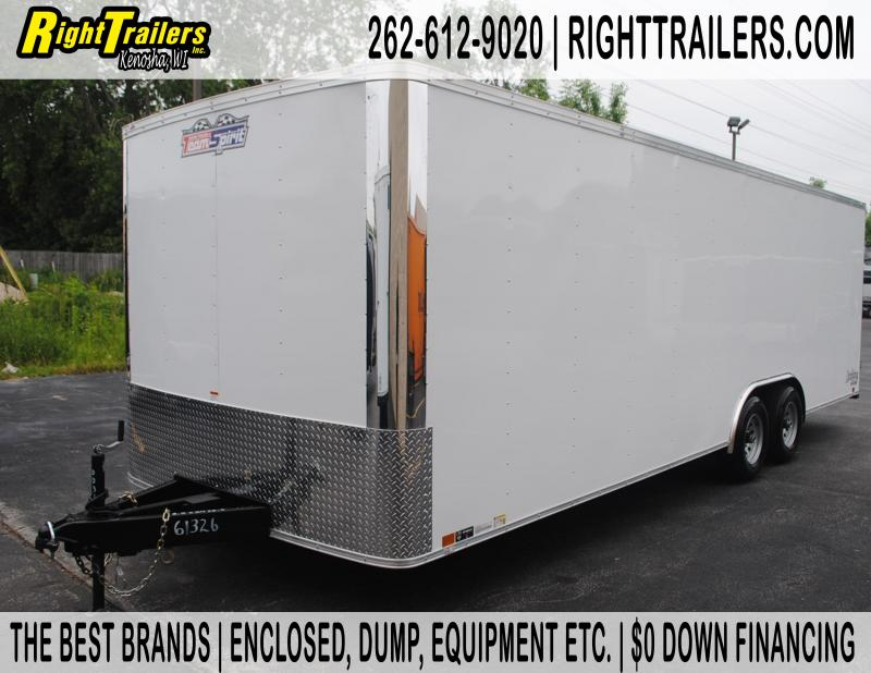 8.5x24 Team Spirit Custom Trailers | Enclosed Trailer