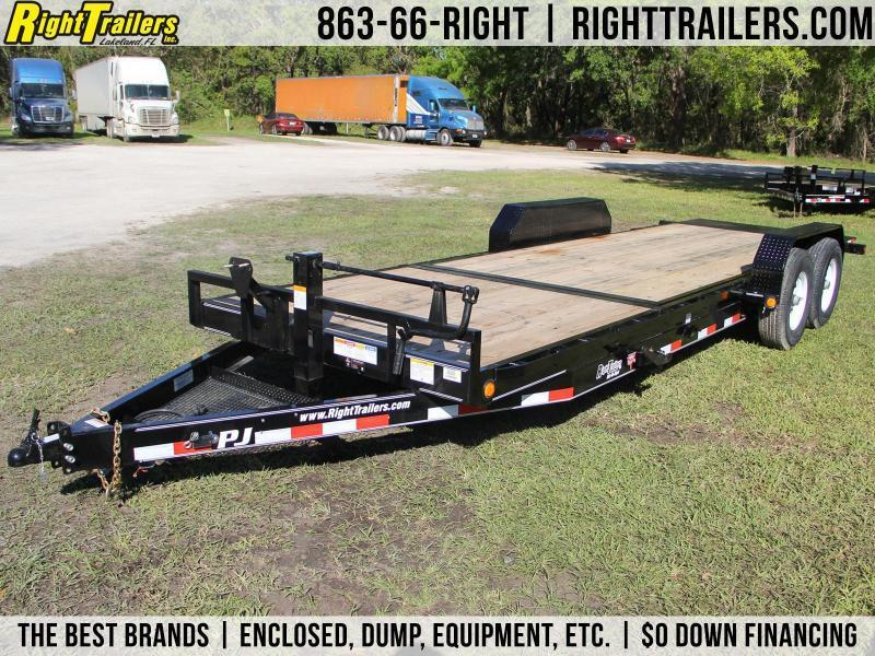 7x22 PJ Trailers | Equipment Trailer [Tilt Deck]