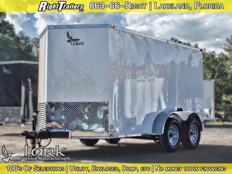 6x12 Lark Manufacturing   Enclosed Trailer (Dual Axle)