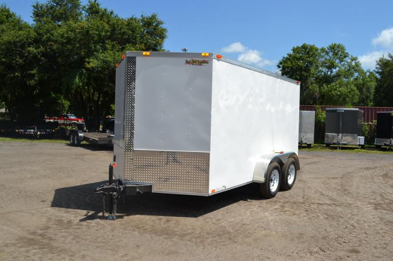 7x12 Red Hot Trailers   Enclosed Trailer