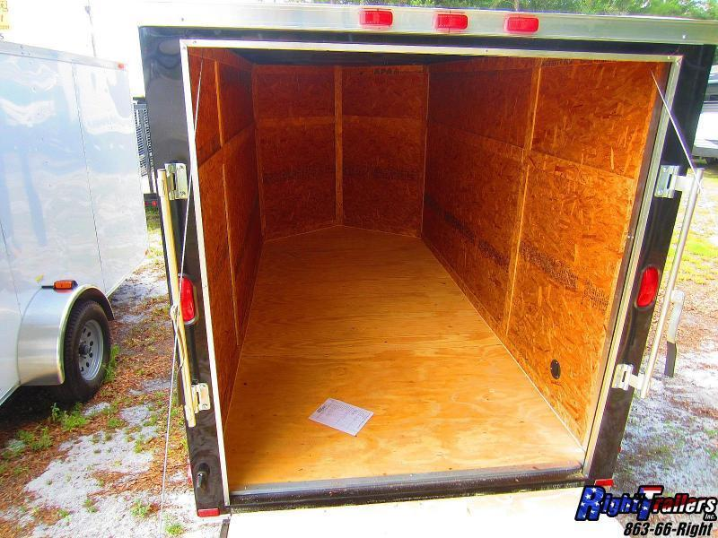 6x12 Enclosed Trailer (Black) | Right Trailers | New And Used Cargo ...