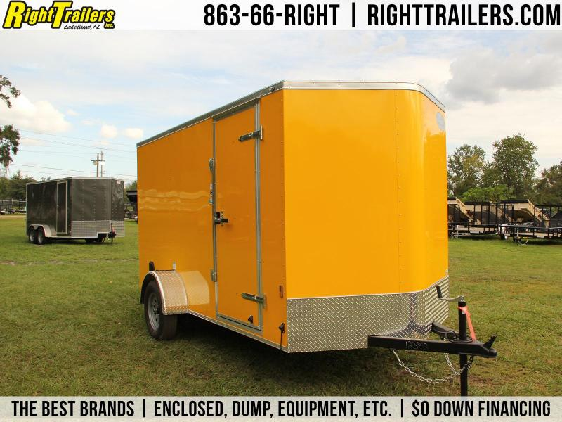 6x12 Continental Cargo | Enclosed Trailer [PENSKE YELLOW]