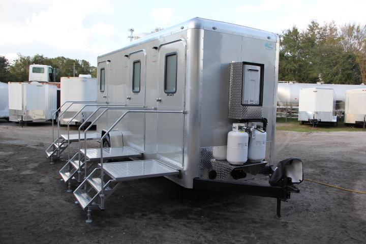 Three Station Restroom and Shower Trailer (Rental)