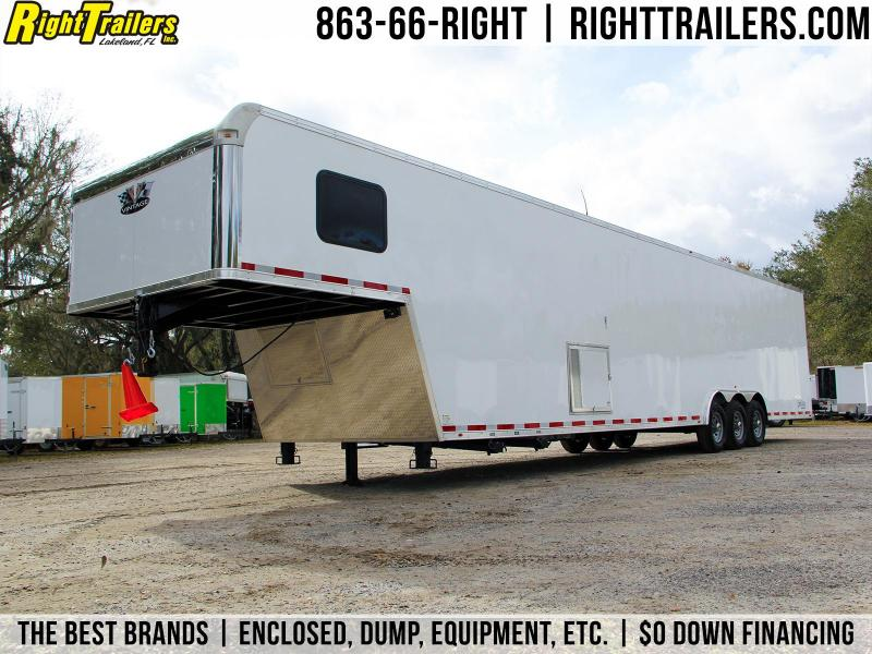 44' Vintage Trailers | Race Trailer W/ Living Quarters