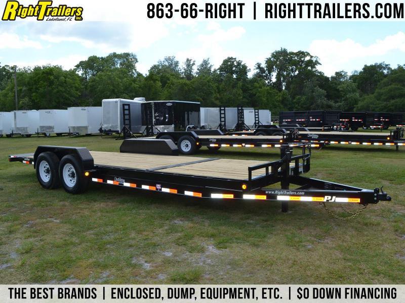 7x22 PJ Trailers | Equipment Tilt Deck Trailer