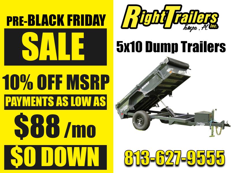 PRE-BLACK FRIDAY SALE: 5x10 Dump Trailers 10% OFF MSRP!