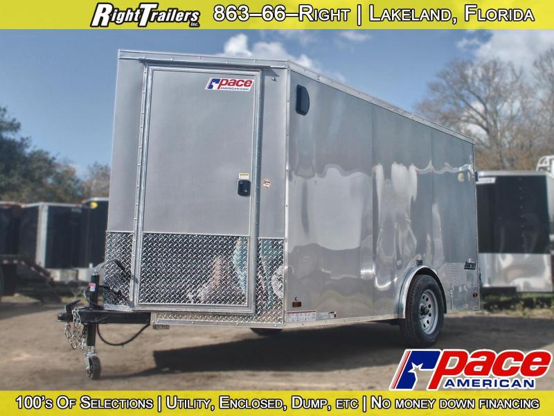 6x12 Pace   Enclosed Trailer [Pewter]