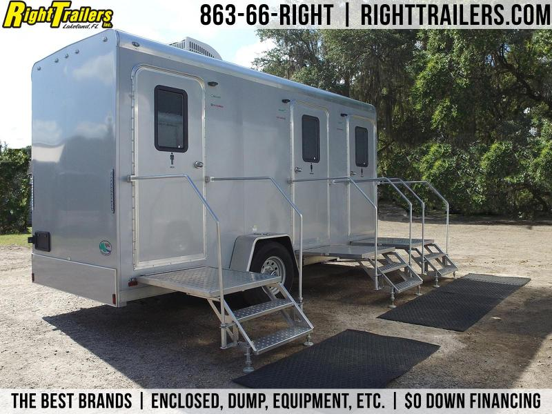 Three Station Restroom Trailer (Rental)
