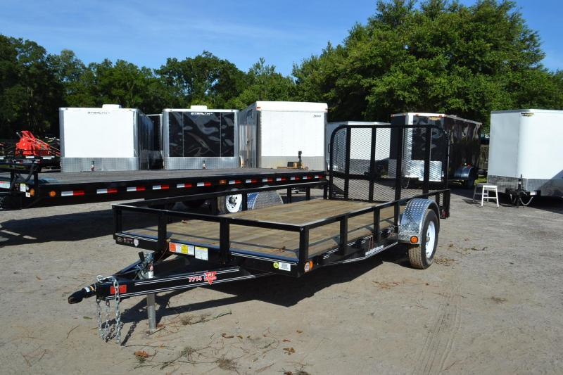 6.5X14 PJ Trailers Utility Trailer with ATV ramps
