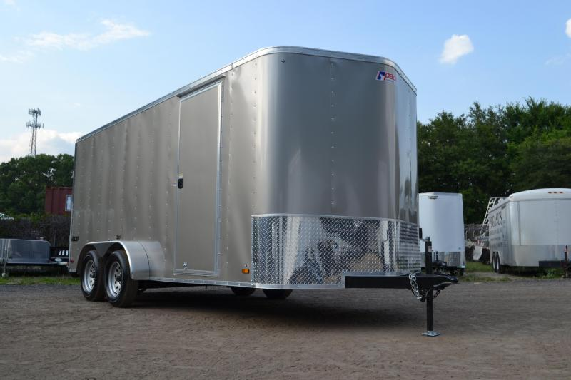 7x16 Pace American   Enclosed Trailer [Pewter]