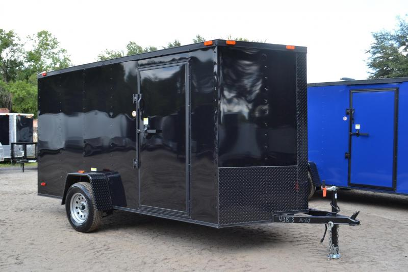 6x12 Continental Cargo | Enclosed Trailer [Black out Package]