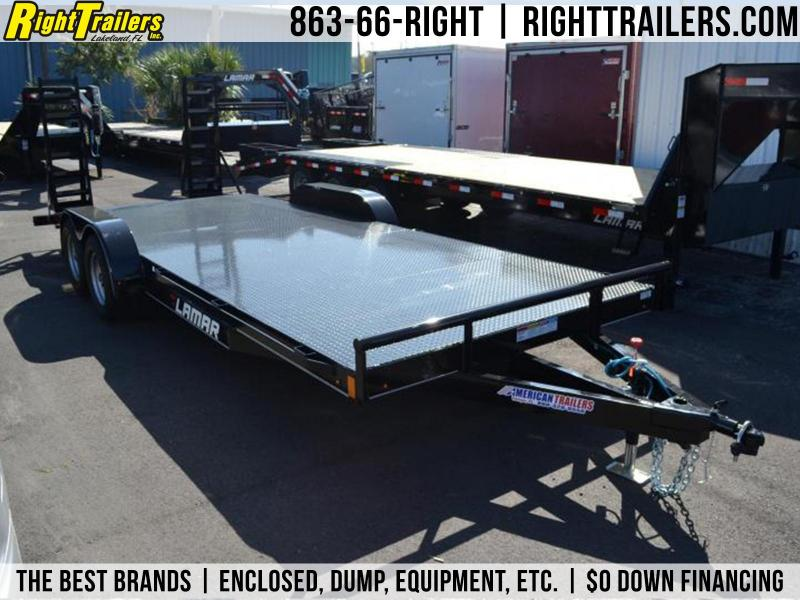 7x20 Lamar Trailers | Open Steel Deck Car Hauler Trailer