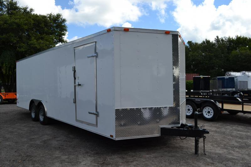 8.5x24 Red Hot Trailers   Enclosed Trailer