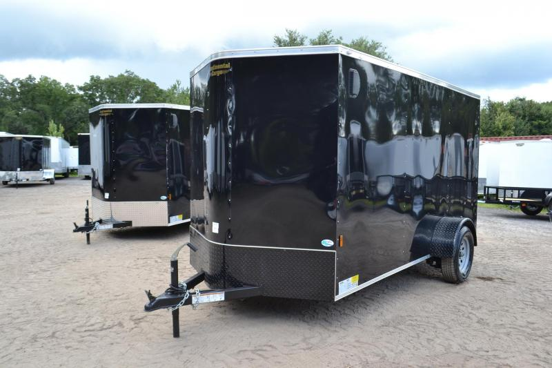 6x12 Continental Cargo | Enclosed Trailer [Black with Black Out]