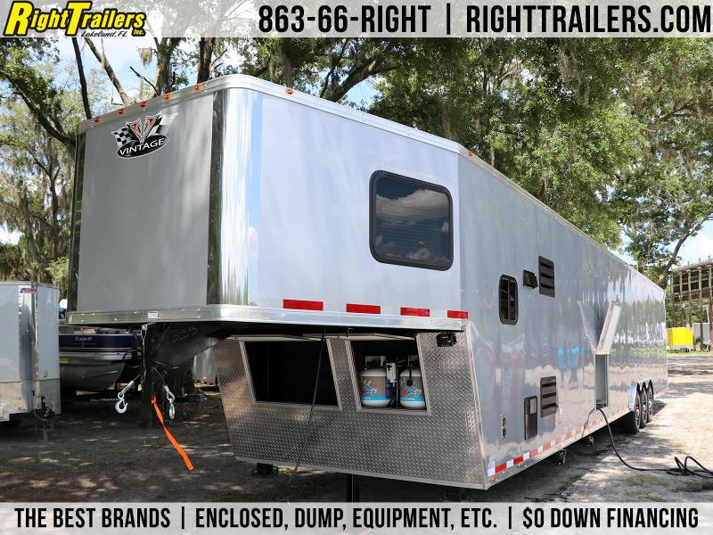 8.5x50 Vintage Trailers | Living Quarters Race Trailer