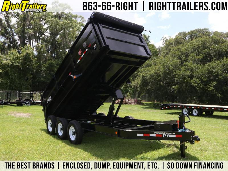 7x16x4 PJ Trailers | DM Low Pro High Side 10 Ton Dump Trailer
