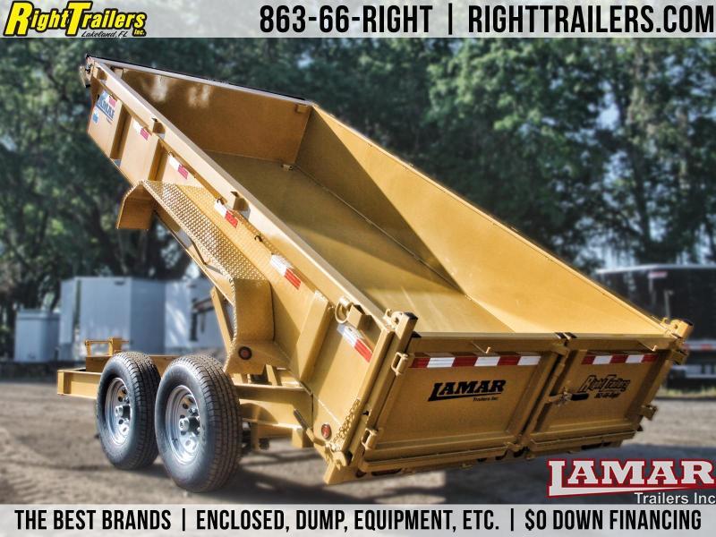 7x14 Lamar Trailers | Dump Trailer [Yellow]