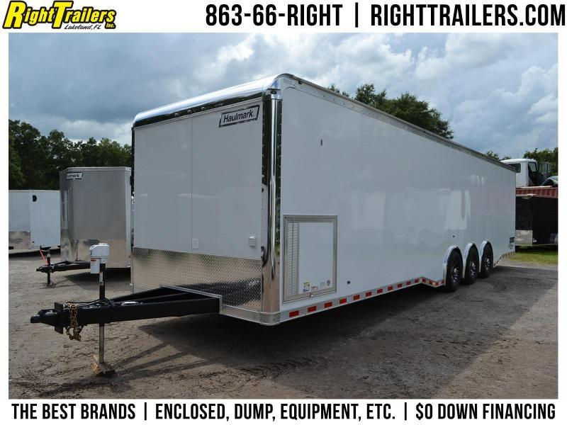 8.5x34 Haulmark Enclosed Race Trailer | Car Racing Trailer