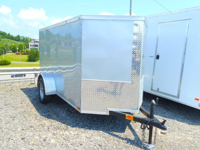 2018 Precision 5x10 Single Axle with Ramp Door Enclosed Cargo Trailer