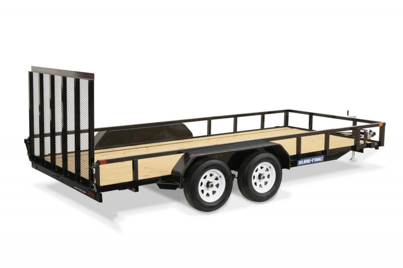 2019 Sure-Trac 7 X 16 TA Tube Top Utility Trailer