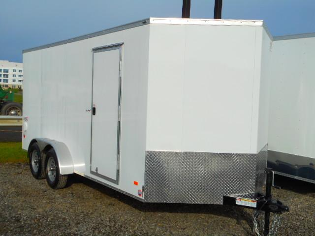 2019 Bravo Trailers 7x16 Scout V-Nose Enclosed Cargo Trailer with Extra Height and Ramp Door