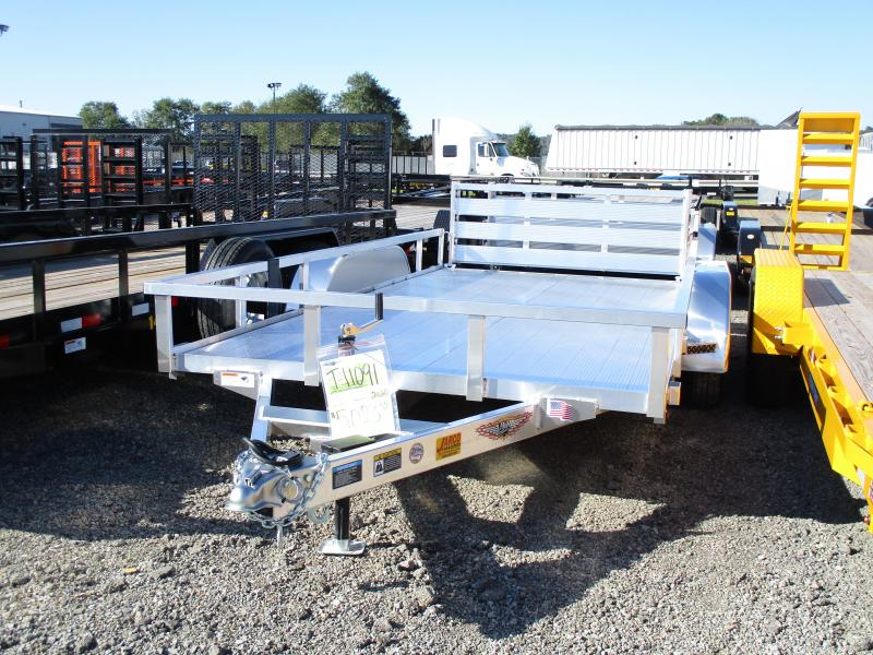 2020 H and H Trailer 82 X 14 Railside Aluminum Utility Trailer