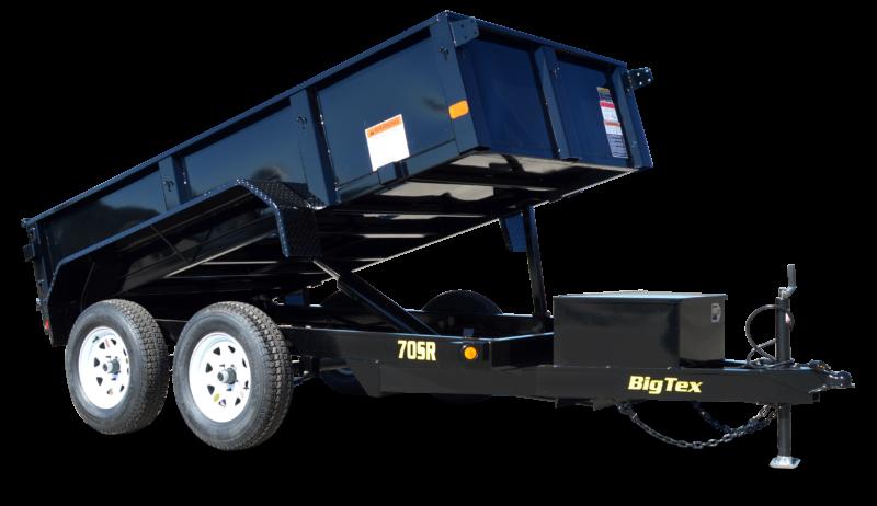 2018 Big Tex Trailers 5x10 Single Ram Tandem Axle Stock # T-8469