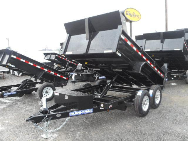 2018 Sure-Trac 72 IN x 10 LProfile 10K Single Ram Dump with Alum. Wheels and Spare