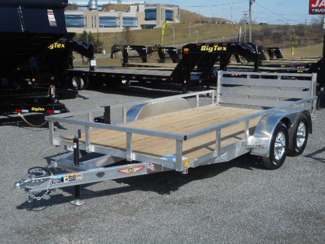 2018 H and H Trailer 82x14 Tandem Railside Aluminum 7K Utility Trailer