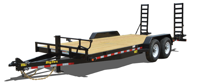 2018 Big Tex Trailers 14ET 83''x18 with Mega Ramps Equipment Trailer