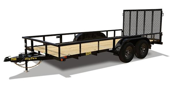 2020 Big Tex Trailers 60PI 77 X 12 Tandem Axle Utility Trailer