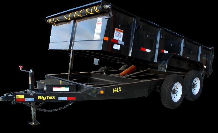 2018 Big Tex Trailers 83''x14 Dump 14k with Tarp Ramps and 7k Hydraulic Jack