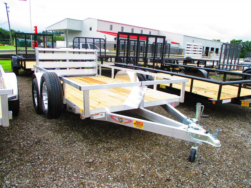 2019 H and H Trailer 66 X 10 Railside Aluminum Utility Trailer