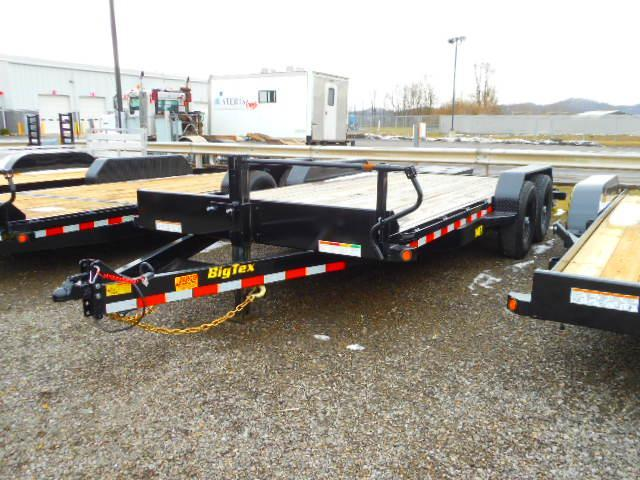 2019 Big Tex Trailers 14ET 83'' X 20 with Mega Ramps Equipment Trailer