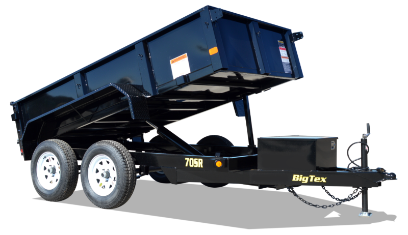 2018 Big Tex Trailers 70SR 5x10 Single Ram 7k Dump