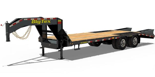 2019 Big Tex Trailers 22GN 102'' X 20+5 with Mega Ramps Equipment Trailer