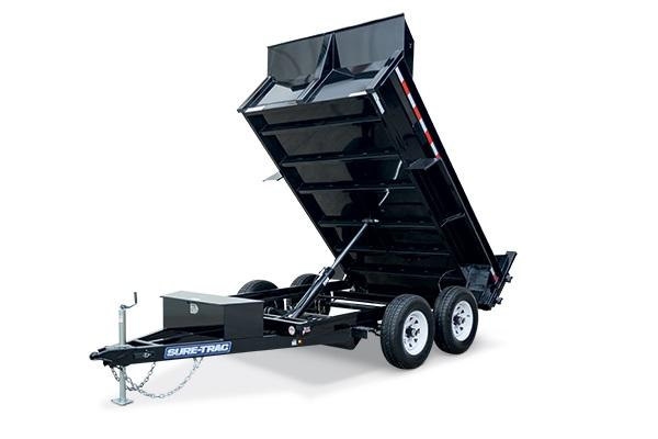2018 Sure-Trac 6x10 Low Pro 7k Single Ram Dump with Aluminum Wheels and Ramps