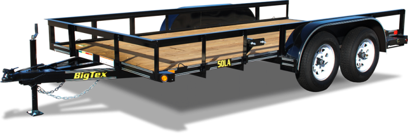 2018 Big Tex Trailers 50LA 77''x16 Tandem Axle Utility