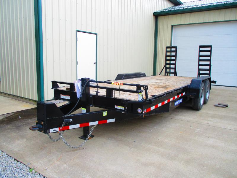 USED 2017 Sure-Trac 7 X 20 16K Implement Equipment Trailer
